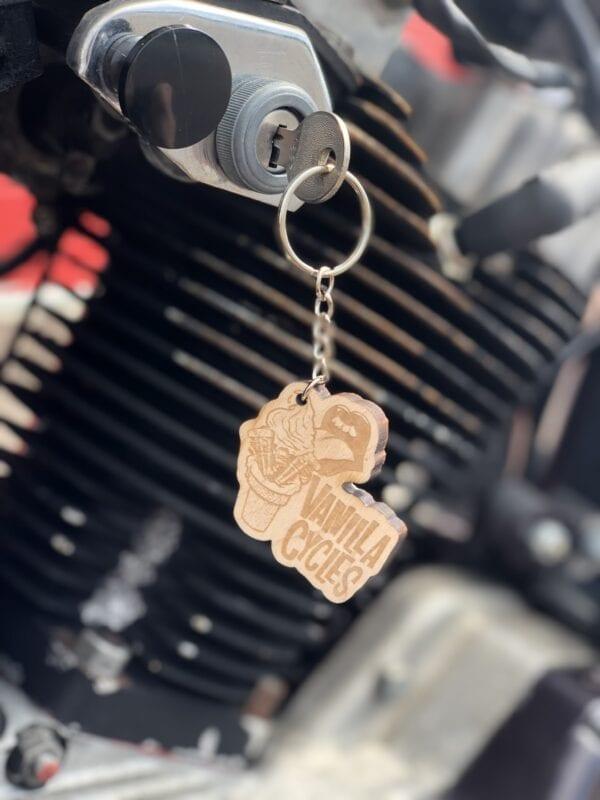 Vanilla Cycles Shovelhead Keychain